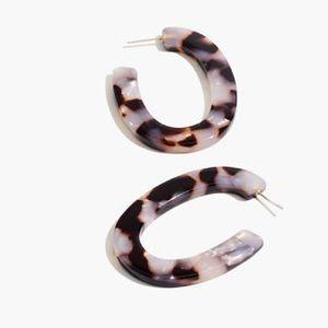 Madewell acetate oval hoop earrings tortoiseshell